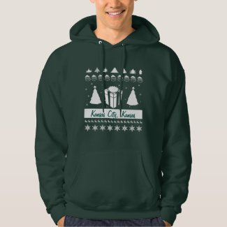 Personalize City Name Ugly Christmas Sweater Trees Hoodie