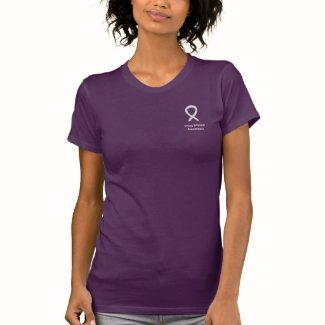 Lung Disease Awareness Pearl Ribbon Custom Shirts