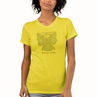 Prisoners of War Yellow Awareness Ribbon Shirt