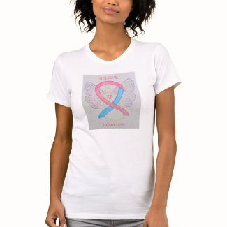 Infant Loss Awareness Ribbon Angel Custom Shirt