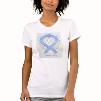 Stomach Cancer Awareness Ribbon Angel Shirt