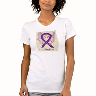 Domestic Violence Awareness Ribbon Angel Shirt