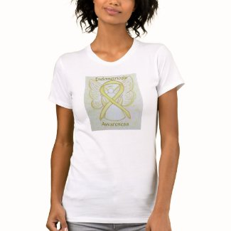 Endometriosis Awareness Ribbon Angel Art Shirt