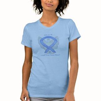 Periwinkle Awareness Ribbon Angel Custom Shirts