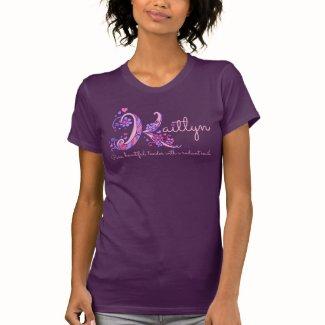 Kaitlyn girls name meaning K monogram hearts T-Shirt