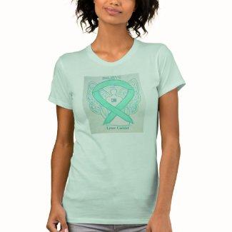 Liver Cancer Jade Awareness Ribbon Angel Shirt