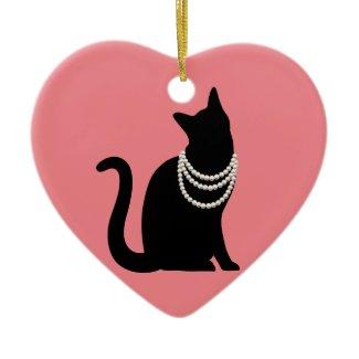 Princess Black Cat Ornament