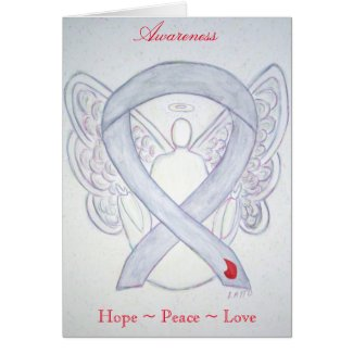 Diabetes Awareness Ribbon Angel Greeting Card