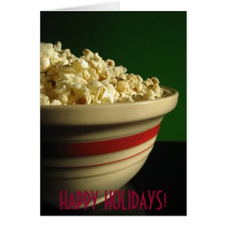 POPCORN HOLIDAY CHRISTMAS WARM CARD