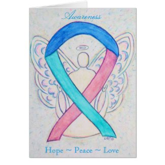 Thyroid Cancer Awareness Ribbon Greeting Card