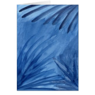 Abstract Blue Rays Make Your Own Mark Card