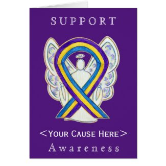 Bladder Cancer Awareness Ribbon Customized Card