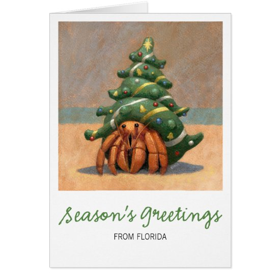 Hermit Crab Christmas Card