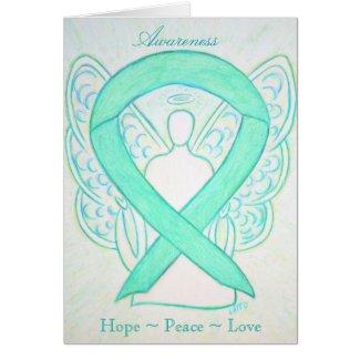 Jade Awareness Ribbon Angel Greeting Card