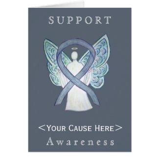 Gray Awareness Ribbon Angel Customized Card