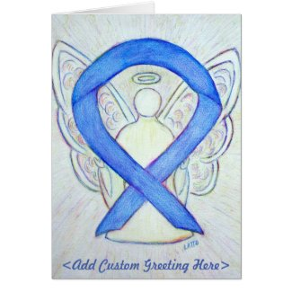 Violet Awareness Ribbon Angel Custom Greeting Card