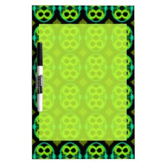 Dry Erase Board with Fun Green Patterned Border