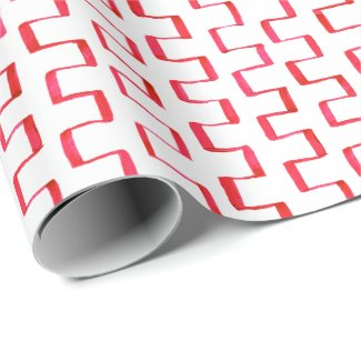 Red Painted Geometric Pattern Wrapping Paper