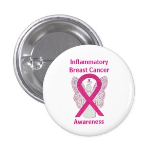 Inflammatory Breast Cancer Hot Pink Angel Pin