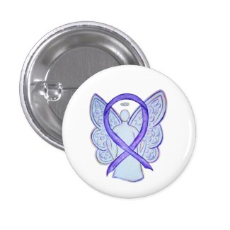 Violet Angel Awareness Ribbon Custom Art Pins