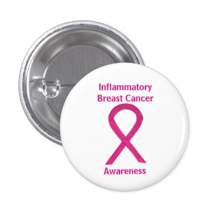 Inflammatory Breast Cancer Hot Pink Ribbon Pin