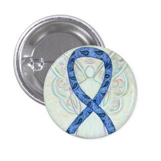 Paisley Ribbon Angel Thyroid Disease Awareness Pin
