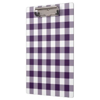 Purple and White Gingham Pattern Clipboard