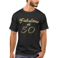 Fabulous at 50 Men's Basic Dark T-Shirt