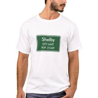 Shelby North Carolina City Limit Sign T-Shirt