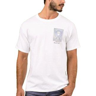 Gray Ribbon Angel Cause Awareness Custom Shirts