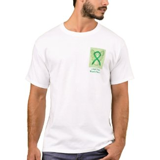 Green Ribbon Angel Cause Awareness Custom Shirts