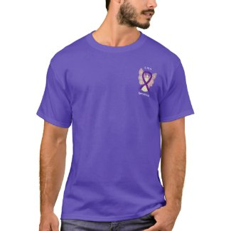 Leiomyosarcoma (LMS) Awareness Ribbon Angel Shirts