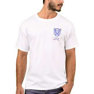 Orchid Ribbon Angel Cause Awareness Custom Shirts