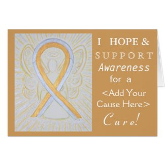 Silver and Gold Awareness Ribbon Angel Cause Cards