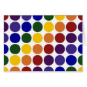 Rainbow Polka Dots on White Card