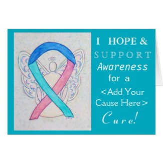 Thyroid Cancer Awareness Ribbon Custom Cause Cards
