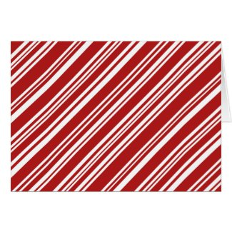 Christmas Peppermint Stripes: Red and White Card