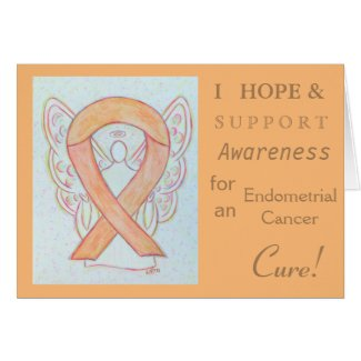 Endometrial Cancer Awareness Ribbon Greeting Card