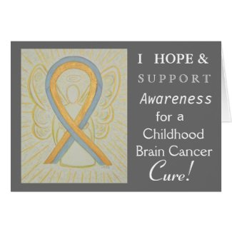 Childhood Brain Cancer Awareness Ribbon Note Card
