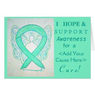 Jade Green Awareness Ribbon Custom Cause Cards