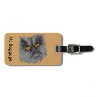 A Grumpy Cat Luggage Tag