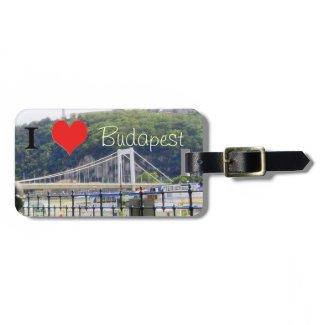 Erzsebet Bridge  I heart Budapest Luggage Tag