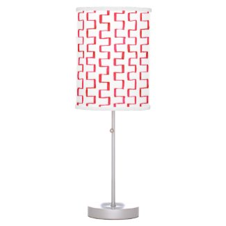 Painted Red Notched Stripes Lamp Shade