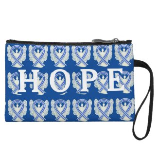 ALS Awareness Ribbon Angel Hope Clutch Purse