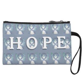 Gray Awareness Ribbon Hope Custom Clutch Purse