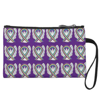 Bladder Cancer Awareness Ribbon Hope Clutch Purse