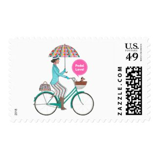 Love Umbrella Postage Stamp