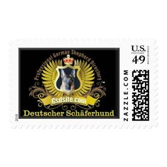 German Shepherd Coat of Arms Postage Stamp