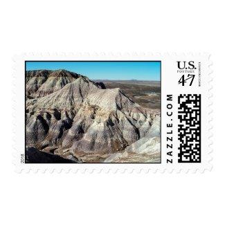 Blue Mesa Badlands Desert Mountains – medium Postage Stamp