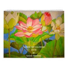 Flower Art 2018 Calendar